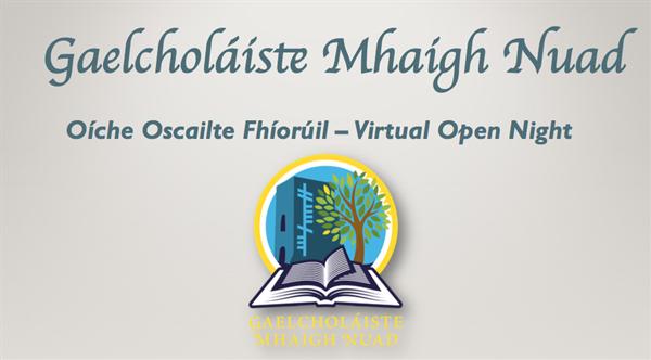 Oíche Oscailte - Open Night 7ú Deireadh Fómhair 2020