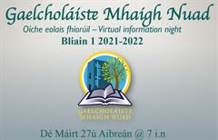 Oíche Eolais fhíorúil - Virtual information Night